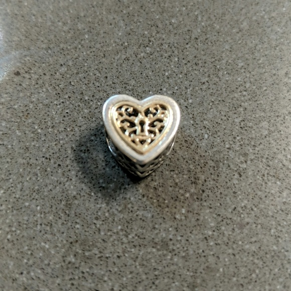 Pandora Jewelry Pandora Silver Gold Heart Charm Poshmark